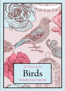 Colouring In Postcards- Birds