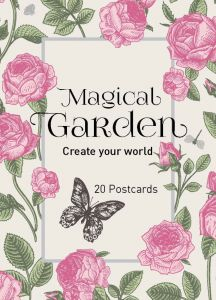Colouring In Postcards- Magical Garden