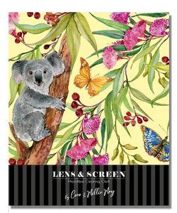 Koala and Butterflies - Lens & Screen Cleaner