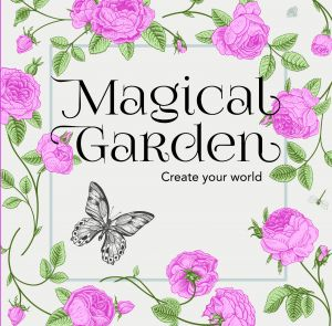 Colouring In Book Mini - Magical Garden