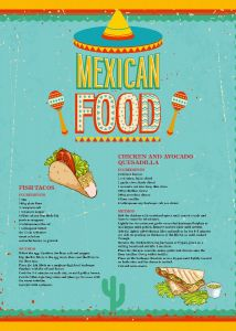 Mexican Food - Tea Towel