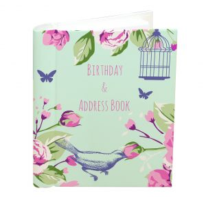 Address and Birthday Book -  Pink Flowers