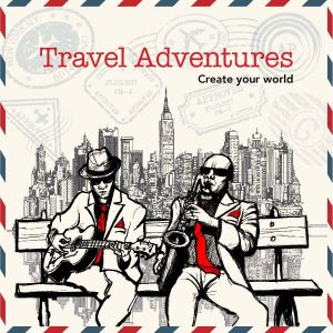 Colouring In Book-Travel Adventures