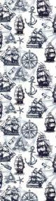 Tasseled Bookmark Black & White Ships