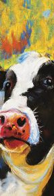 Tasselled bookmark Cow in Colour