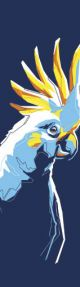 Tasseled Bookmark Parrot in Blue