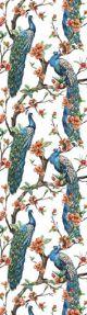 Tassled Bookmark Peacocks Blue and Green